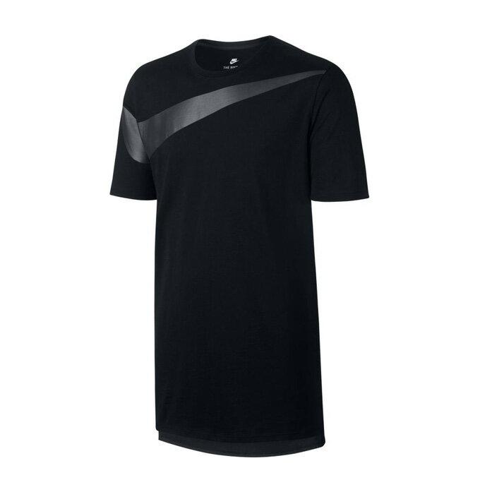 ナイキ 半袖 Tシャツ メンズ ドロップテール オーバーサイズ スウッシュ Tシャツ 856491-010 NIKE