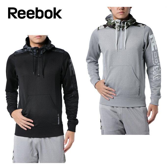 リーボック Reebok パーカー メンズ ワンシリーズ Wハイブリッドスウェット ハーフジップパーカー DRJ53