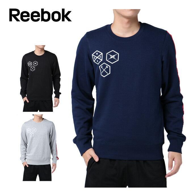 リーボック Reebok スウェット メンズ OS テープロゴクルースウェット DRJ49