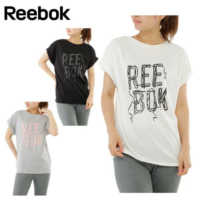 リーボック Reebok Tシャツ 半袖 レディース ベーシックREEBOKTシャツ DRJ59
