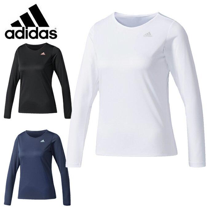 アディダス Tシャツ 長袖 レディース W D2Mトレーニング定番ロゴワンポイント長袖Tシャツ DUQ26 adidas