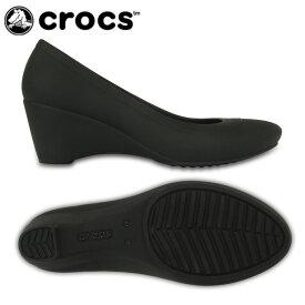 【基本送料無料 11/16 17:00〜11/26 8:59】 クロックス crocs パンプス レディース crocs lina wedge w クロックス リナ ウェッジ ウィメン 203408-001