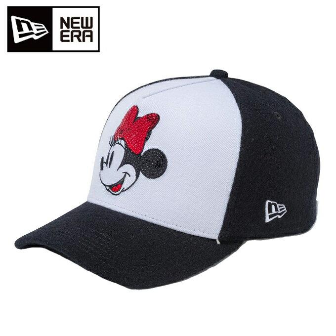 ニューエラ NEW ERA キャップ ゴルフ ウィメンズ 9FORTY D-Frame ディズニー ミニーマウス スパンコール ホワイト 11474213