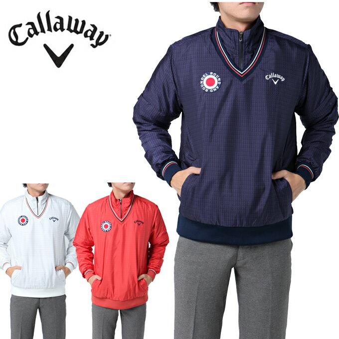キャロウェイ Callaway ゴルフウェア ブルゾン メンズ アロープリント4WAYハーフジップ中綿ブルゾン MENS 241-7210510