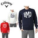 キャロウェイ Callaway ゴルフウェア セーター メンズ オックスフォードジャカード プレーンクルーネックニット 241-7260515