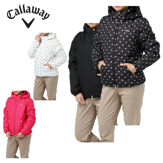 キャロウェイ Callaway ゴルフウェア ブルゾン レディース フラワーPT6WAYダウンジャケット 241-7210805