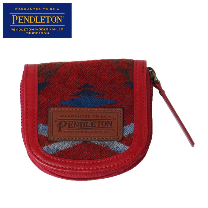 【クーポン利用で500円引 1/19 00:00〜1/20 23:59】 ペンドルトン PENDLETON PDファブリックコインケース PDT-000-173122-RED