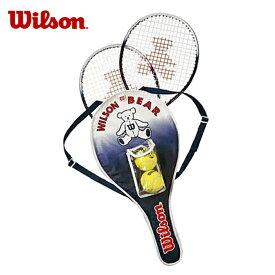 ウィルソン 硬式テニスラケット 張り上げ済み ジュニア ベアーラケットセット BEAR RACKET SET WRT6164E Wilson メンズ レディース