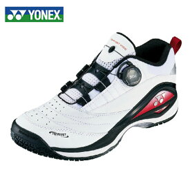 ヨネックス テニスシューズ オムニ クレー メンズ パワークッションコンフォートワイドダイヤル2 WD2GC SHTCWD2G-114 YONEX オムニクレー ホワイト/レッド