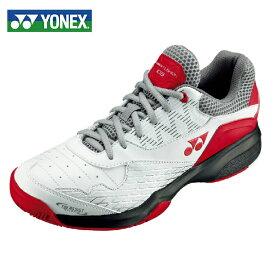 ヨネックス テニスシューズ オムニ クレー メンズ レディース パワークッション103 SHT103-114 YONEX オムニクレー ホワイト/レッド