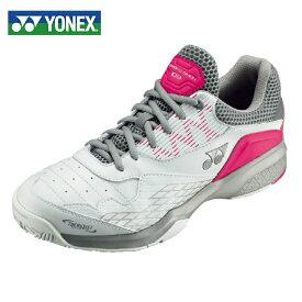 ヨネックス テニスシューズ オムニ クレー レディース パワークッション103 SHT103-062 YONEX オムニクレー ホワイト/ピンク