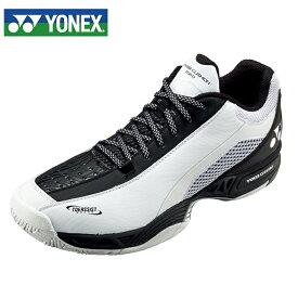 ヨネックス テニスシューズ オールコート メンズ パワークッション206D SHT206D-141 YONEX ホワイト/ブラック