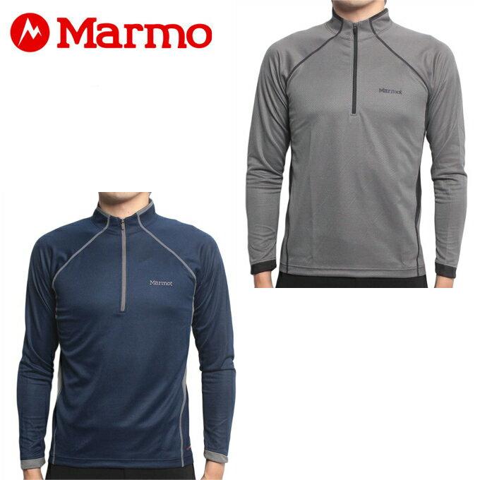 マーモット Marmot 長袖シャツ メンズ HEAT NAVI L/S Zip ヒートナビロングスリーブジップ MJK-F7063