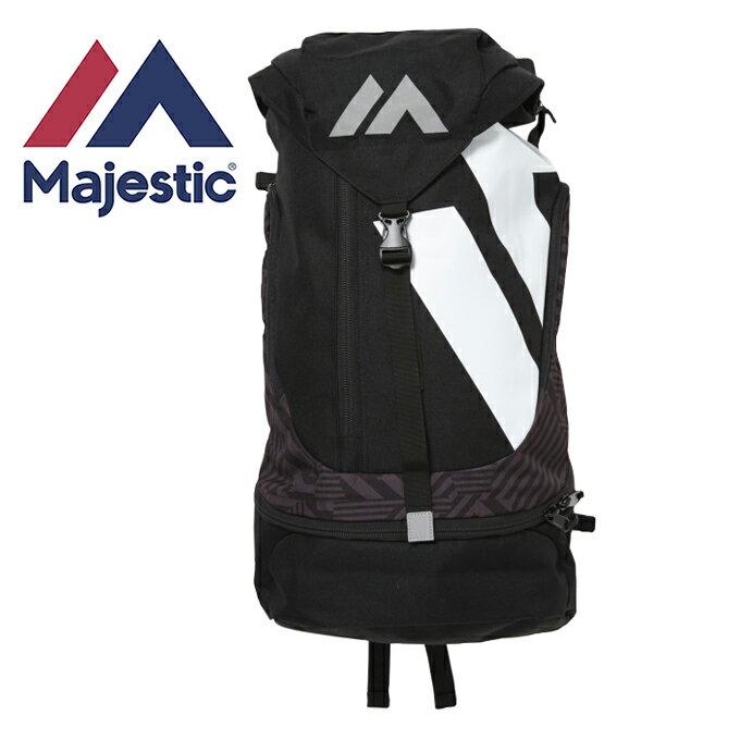 マジェスティック Majestic 野球 バックパック 2017AW Authentic Practice Back Pack Large NEW COLORブラック XM13-BLK7-MAJ-0002
