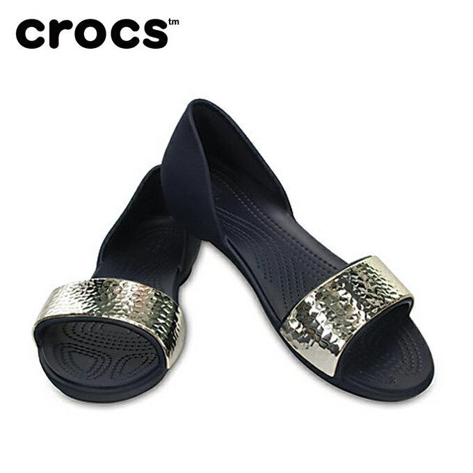 クロックス crocs サンダル レディース Women's Crocs Lina Embellished D'Orsay Flat クロックス リナ エンベリッシュド ドルセー ウィメン 204361