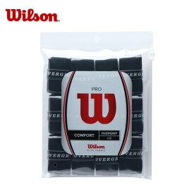 ウィルソン テニス グリップテープ ウェットタイプ 12本入り プロオーバーグリップ PRO OVERGRIP 12Pk WRZ4022 BK Wilson