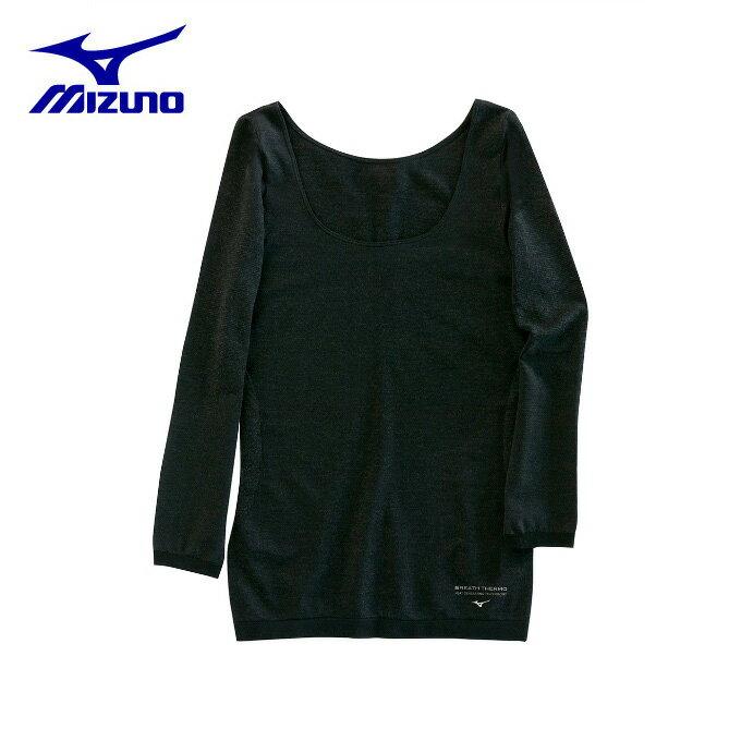ミズノ MIZUNO 長袖インナーウェア レディース 女子のブレスサーモ ラウンドネック長袖 C2JA782108