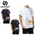 ビジョンクエスト VISION QUEST バレーボールウェア 半袖シャツ メンズ 半袖バレー文字Tシャツ VQ570513H02