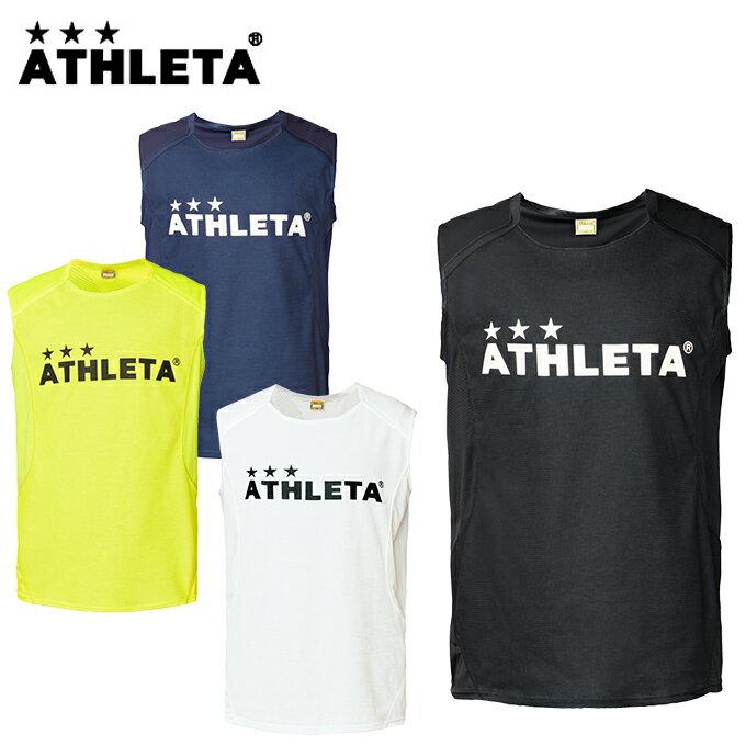 アスレタ ATHLETA サッカーウェア ノースリーブ メンズ レディース カラーノースリーブシャツ 01087