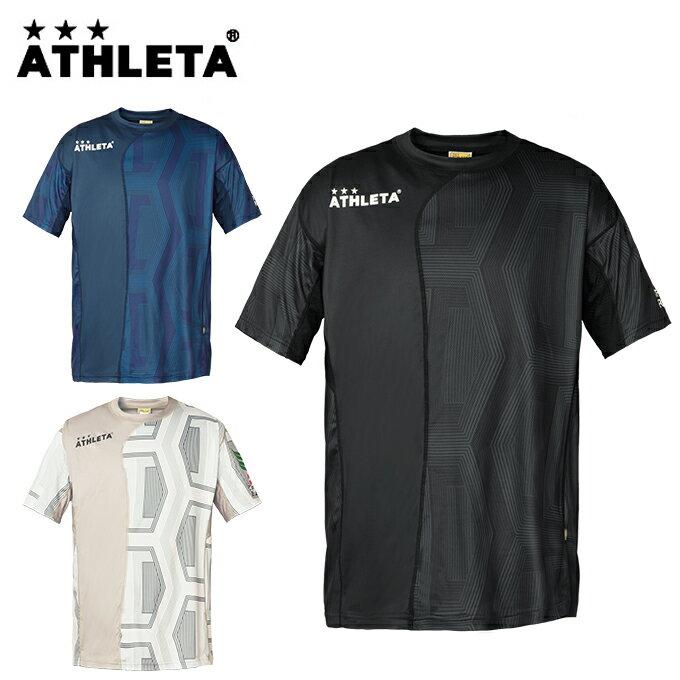 アスレタ ATHLETA サッカーウェア 半袖シャツ メンズ レディース 総柄プラクティスシャツ 03311