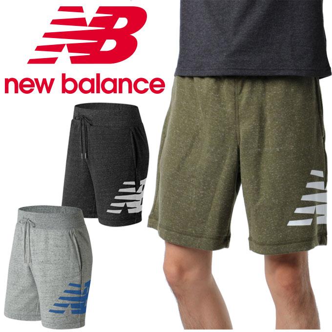 ニューバランス ハーフパンツ メンズ ヘザースウェットショーツ AMS81536 new balance