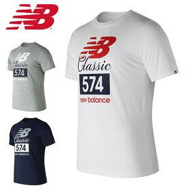 fbdce677fa820 ニューバランス Tシャツ 半袖 メンズ クラシック574Tシャツ AMT81543 new balance