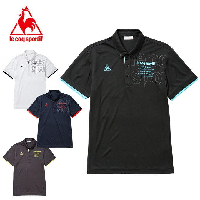 ルコック le coq sportif ポロシャツ 半袖 メンズ ボタンダウン機能ポロシャツ QMMLJA46