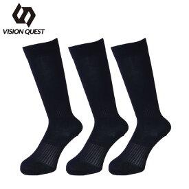 ビジョンクエスト VISION QUEST 野球 ソックス 3足組 ジュニア BASEBALL COLOR SOCKS カラーソックス VQ550401H03