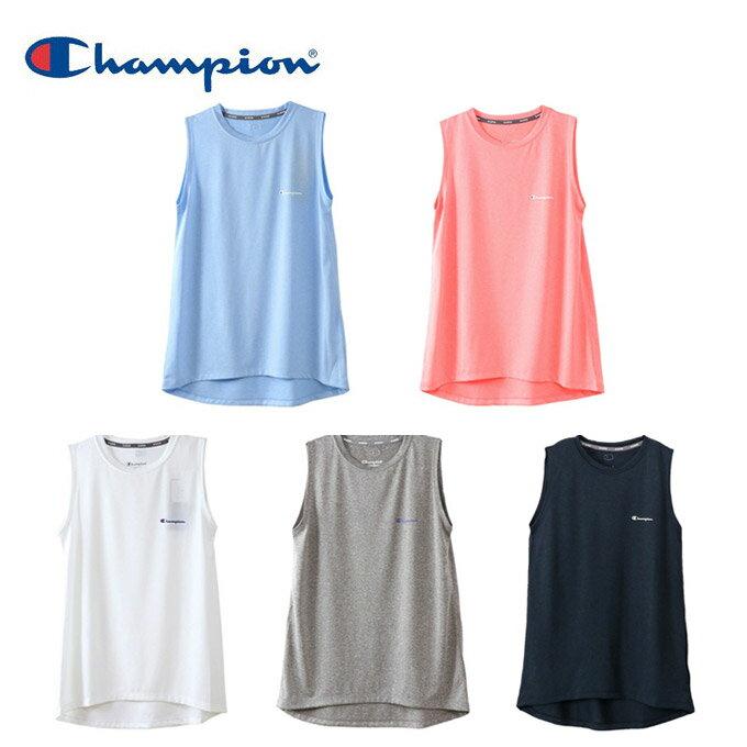チャンピオン Champion タンクトップ レディース ウィメンズ C VAPOR ノースリーブTシャツ CW-MS317