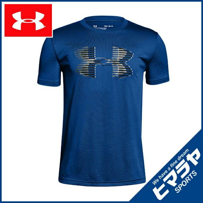 アンダーアーマー 機能Tシャツ 半袖 ジュニア テックTシャツ Big Logo Solid トレーニング Tシャツ BOYS ボーイズ 1306073-400 UNDER ARMOUR