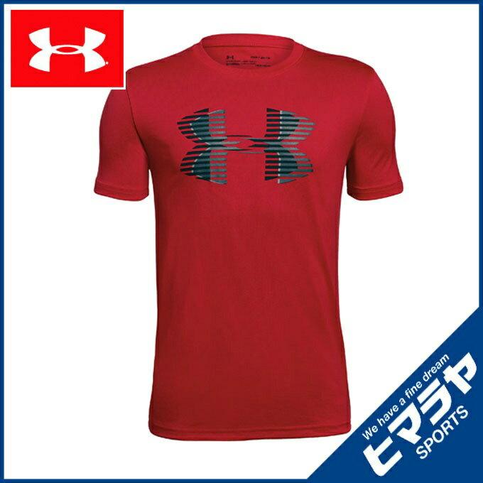 アンダーアーマー 機能Tシャツ 半袖 ジュニア テックTシャツ Big Logo Solid トレーニング Tシャツ BOYS ボーイズ 1306073-600 UNDER ARMOUR