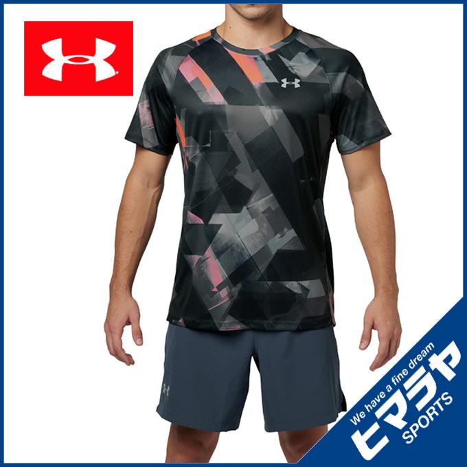 アンダーアーマー スポーツウェア 半袖Tシャツ メンズ スピードストライドプリントショートスリーブ ランニング MEN 1320208-001 UNDER ARMOUR