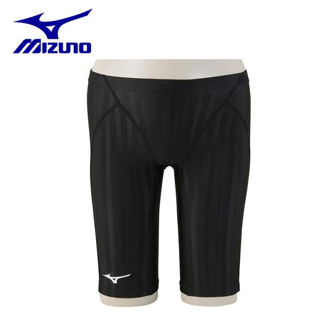 ミズノ FINA承認 競泳水着 ハーフスパッツ メンズ ストリームアクセラ N2MB8021-09 mizuno スイムウェア 水着