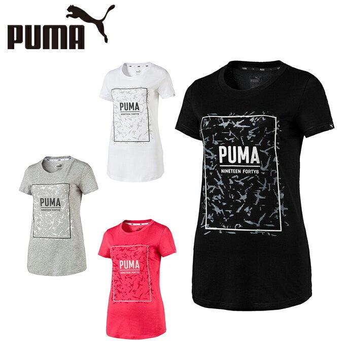 プーマ Tシャツ 半袖 レディース グラフィック半袖Tシャツ 852161 PUMA