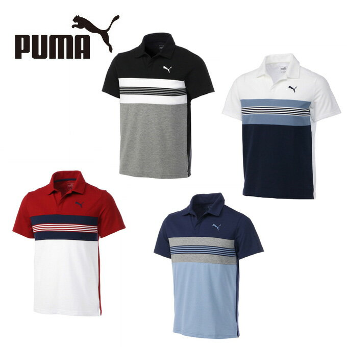プーマ ポロシャツ 半袖 メンズ エッセンシャル ボーダースキッパー 851241 PUMA