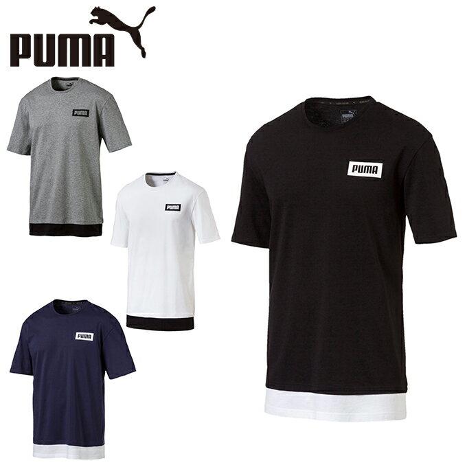 プーマ Tシャツ 半袖 メンズ REBELフェイクレイヤードTシャツ 851982 PUMA
