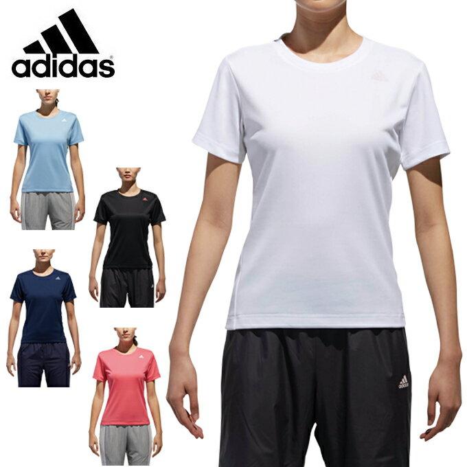 【7,000円以上でクーポン利用可能 11/18 23:59まで】 アディダス Tシャツ レディース D2Mトレーニング定番ロゴワンポイント半袖Tシャツ EUD14 adidas