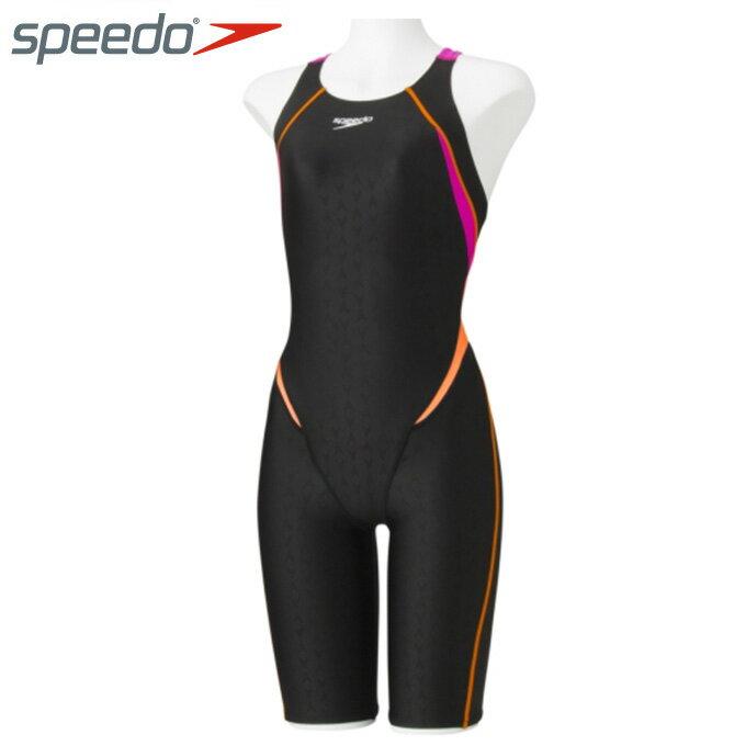 スピード FINA承認 競泳水着 ハーフスパッツ レディース FLEX Σ シグマ セミオープンバックニースキン フレックス SD48H09 speedo