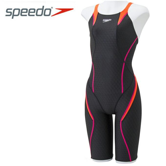 スピード FINA承認 競泳水着 ハーフスパッツ レディース FLEX Cube セミオープンバックニースキン 競泳用 オールインワン SD46H04-KO speedo