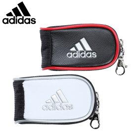 アディダス ゴルフ ボールポーチ メンズ レディース シルバーロゴ ボールケース AWU29 adidas