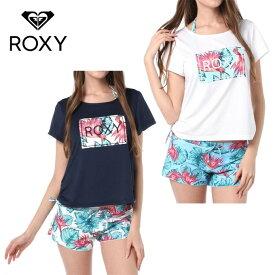 ロキシー ROXY ビキニ 水着 レディース ラッシュTシャツ×ボタニカル柄ビキニ 3ピースセット HOLIDAY RSW181008