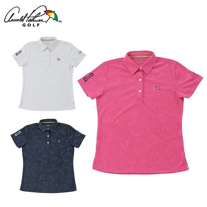 アーノルドパーマー arnold palmer ゴルフウェア ポロシャツ 半袖 レディース 傘エンボス半袖シャツ AP220301H03