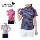 オプスト OPST ゴルフウェア ポロシャツ 半袖 レディース マルチカラ—ストライプ半袖シャツ OP220301H06