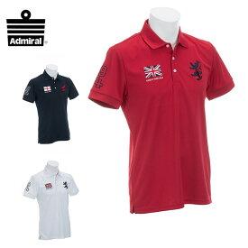 アドミラル Admiral ゴルフウェア ポロシャツ 半袖 メンズ フラッグ ADMA833