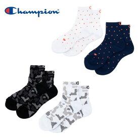 チャンピオン Champion バスケットボール ソックス レディース 2Pショートソックス C3-MB727S