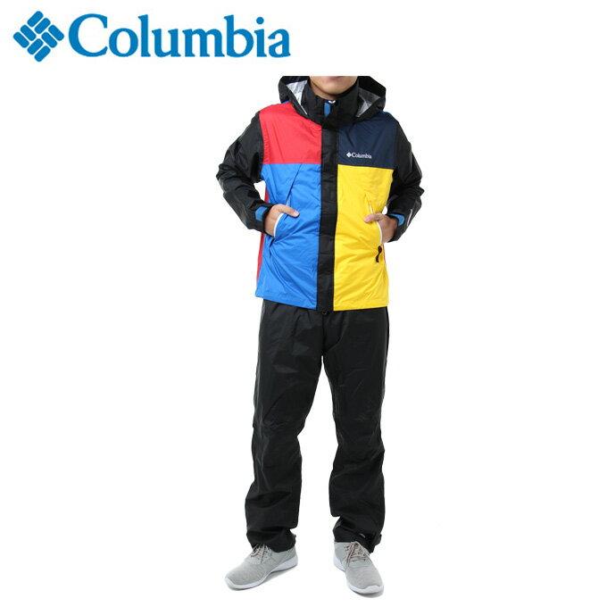 コロンビア レインウェア 上下セット メンズ シンプソンサンクチュアリレインスーツ PM0124 011 Columbia