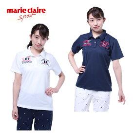 マリ クレール marie claire ゴルフウェア ポロシャツ 半袖 レディース ワッフル 718-623