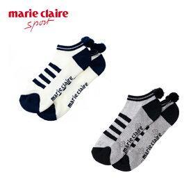 マリ クレール marie claire ゴルフ ソックス レディース ロゴアンクルソックス 718-920