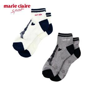 マリ クレール marie claire ゴルフ ソックス レディース 配色ショートソックス 718-922