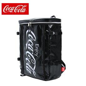 コカ コーラ COCA COLA バックパック メンズ レディース Cターポリンスクエアリュック COK-MBBK04 BK
